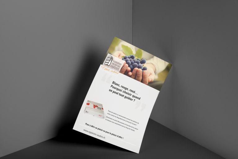 Annonce informative pour l'Association des Vignerons Encaveurs Vaudois