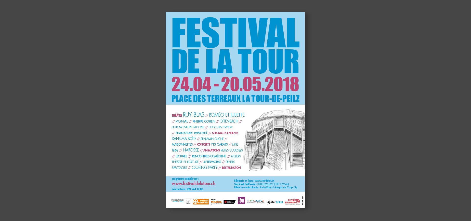 Affiche pour le Festival de la Tour