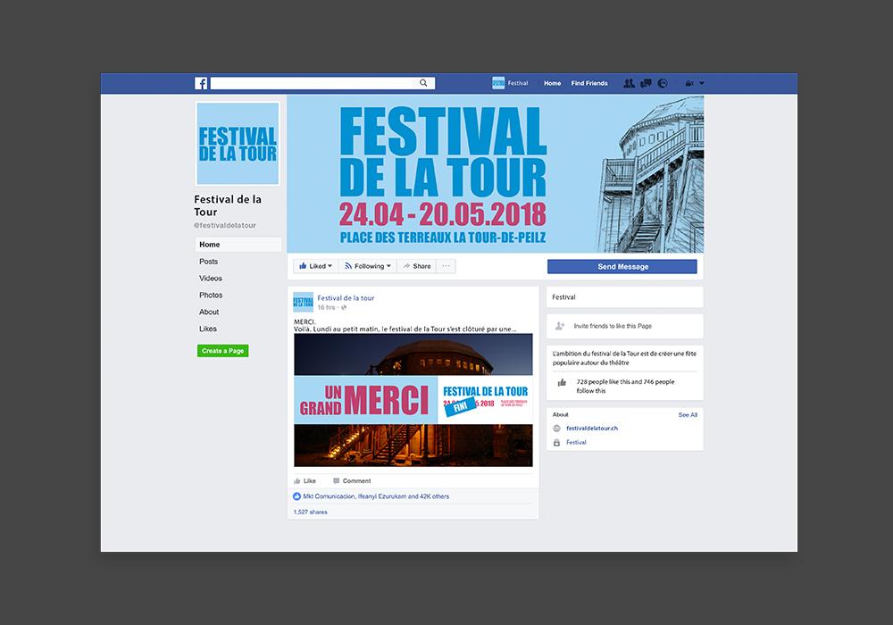 Page Facebook du Festival de la Tour