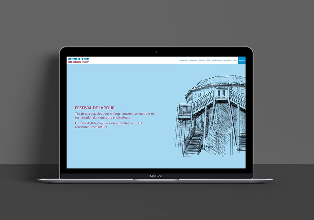 Design du site internet pour le Festival de la Tour